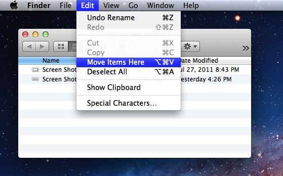 How to cut and paste files or folders on Mac